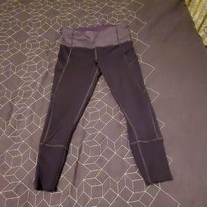 [Lululemon] purple run tights reflective 8